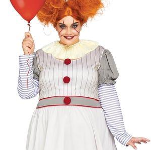 Creepy Clown Halloween Costume 3x/4x Pennywise It